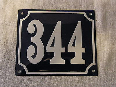 Vintage German Enamel & Iron Sign Blue House 344  #B