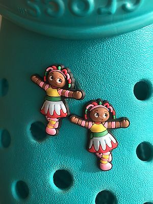 2 Upsy Daisy In The Night Garden Shoe Charms For Crocs & Jibbitz Wristbands