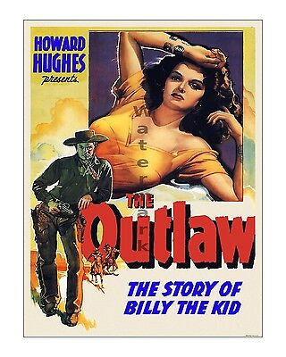 Howard Hughes - Jane Russell - The Outlaw - Vintage Film Movie Poster