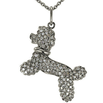 Poodle Dog Necklace In 14k Gold With A Pave Diamond Necklace Design