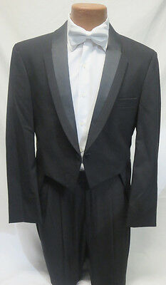 40R Black Christian Dior Toulon Tuxedo Fulldress Tailcoat Jacket Mardi Gras