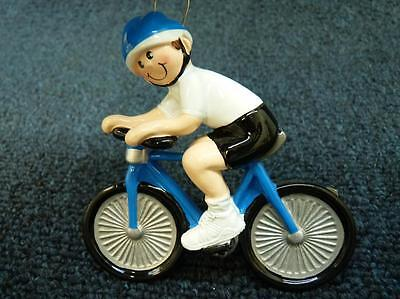 Ornament Central Bike Rider Male Bicycle Christmas Ornament NEW w tag (o2415)