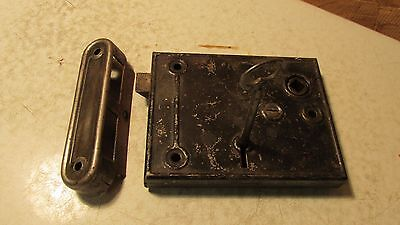 Antique Steel Rim Lock & Key No. 7