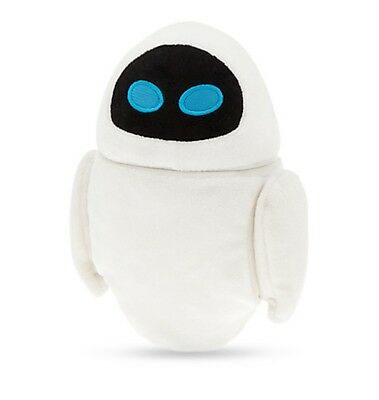 "Disney Authentic Wall-E Eve Robot Soft Plush Toy 7"" Head Turns - Gift New"