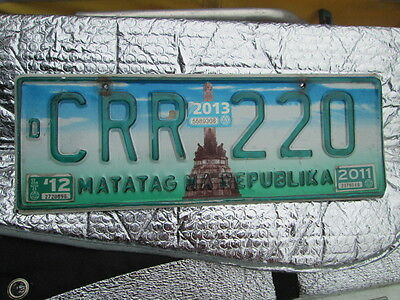 Philippines Matatag NA Republika '12/2011 (CRR 220)METAL LICENSE PLATE (STOCK#2)