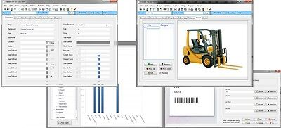 Equipment, Construction Machinery, Forklift & Truck Tracking  Database Software