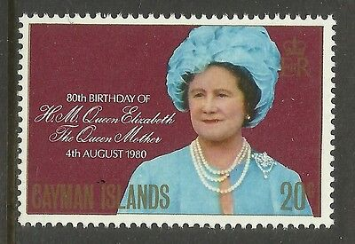 CAYMAN IS 1980 80th Birthday QUEEN ELIZABETH QUEEN MOTHER 1v MNH