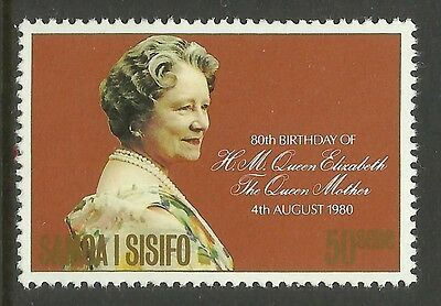 SAMOA 1980 80th Birthday QUEEN ELIZABETH QUEEN MOTHER 1v MNH