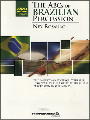 The ABCs of Brazilian Percussion Tutor Method Sheet Music Book/DVD Ney Rosauro