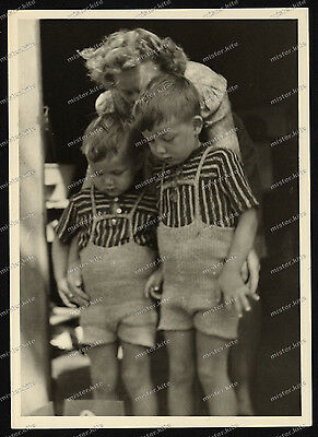 Nice Portrait-jugend-Junge-Knabe-German cute Boy-zwillinge-Dress-BROTHERS-3