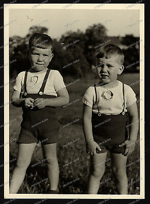 Nice Portrait-jugend-Junge-Knabe-German cute Boy-zwillinge-Dress-BROTHERS-2