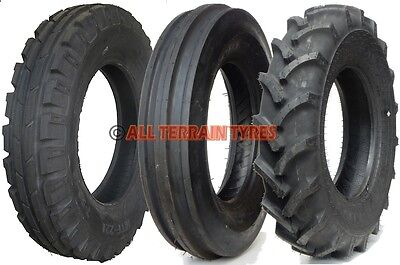 Classic Vintage Dumper Tractor Tyres & Inner Tubes 3 Rib 4 Rib Front Open Centre