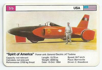 "Top Trumps - World Record Holders - Card 3B - ""spirit Of America"" (Ampm)"