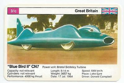 "Top Trumps - World Record Holders - Card 3C - ""blue Bird Ii"" Cn7 (Ampn)"