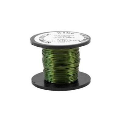 1 x Green Plated Copper 0.9mm x 5m Round Craft Wire Coil W3014