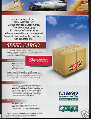 Garuda Indonesia 2008 Speed Cargo Air Freight A330 Handle With Care Ad