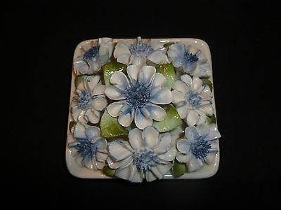 Royal Doulton Blue Floral Display Hand Made & Painted In England Unused Rare