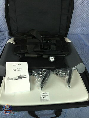 NEW ** Saunders Lumbar Traction Device Portable with Case