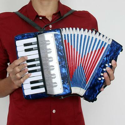 Small 17-Key 8 Bass Accordion Educational Musical Toy for Kid Gift DarkBlue EA4Y