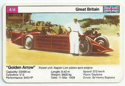 "Top Trumps - World Record Holders - Card 4D - ""golden Arrow"" (Amps)"