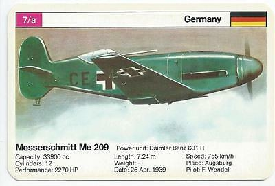 Top Trumps - World Record Holders - Card 7A - Messerschmitt Me 209 (Amqb)