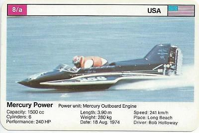 Top Trumps - World Record Holders - Card 8A - Mercury Power (Amqf)