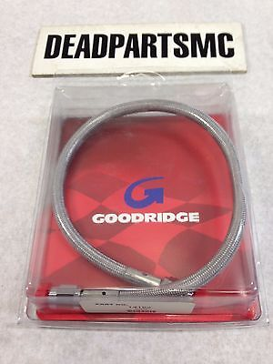 Harley Goodridge stainless clear coated 15 inch brake cable line NEW 14152 80315