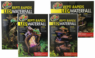 Zoo Med Repti Rapids Led Light Rock & Wood Style Waterfall Reptile Terrarium Viv