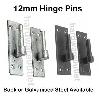 "M12 HINGE PINS 1/2"" Hooks on Plates Garden Metal Field Gate Galvansied Band"