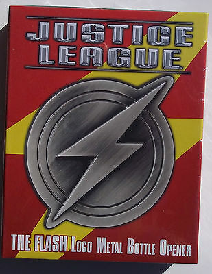 Dc Justice League. The Flash Logo Metal Bottle Opener. Magnets On Back. Nib