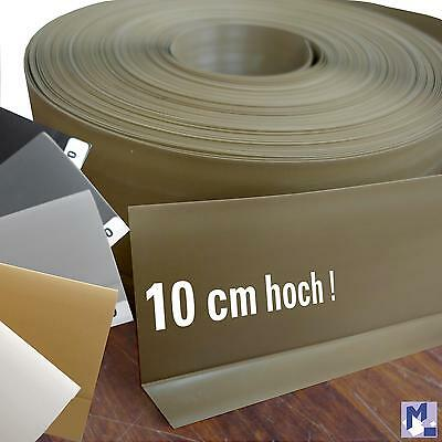 XXL self-adhesive soft PVC Skirting Profile Kink Plastic 10 cm high