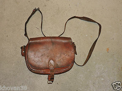 Sacoche de chasse/ pêche ancienne  hunting bag  Leather