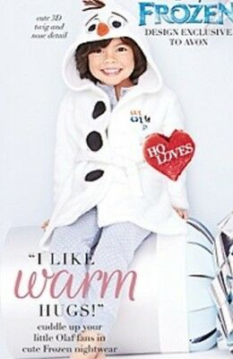 AVON FROZEN OLAF DRESSING GOWN - AGE 5-6 YEARS (New/Sealed)