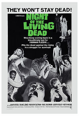 Horror: * Night of the Living Dead *  George A. Romero Classic Movie Poster 1968