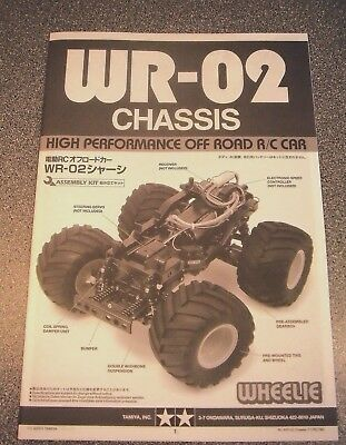 New Tamiya WR-02 *Chassis Instructions* / Build Manual Inc 'Wild Willy 2' etc