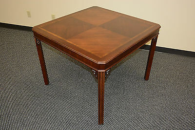 LANE CHIPPENDALE ANTIQUE MAHOGANY Square game kitchen dining breakfast TABLE