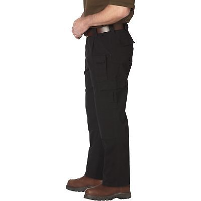 Gravel Gear 7-Pocket Tactical Pant with Teflon - Black, 46in Waist x 30in Inseam