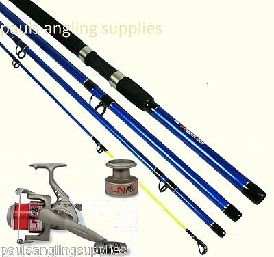 NGT Extreme Sea Fishing 4pc Travel Rod & Reel Option With Line