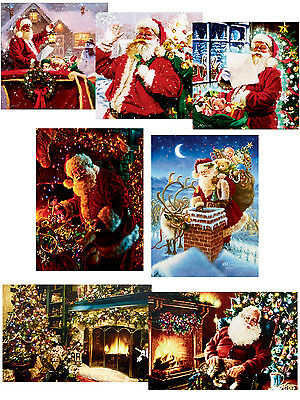 Light Up Christmas Canvas Scene LED Fibre Optic Picture Wall Hanging Decoration