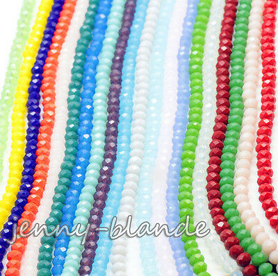 Wholesale Czech Crystal Glass Faceted Rondelle Beads Charm Finding 4/6/8/10mm