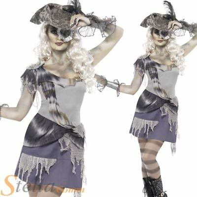 Ladies Madame Voyage Costume Zombie Ghost Pirate Halloween Womens Fancy Dress