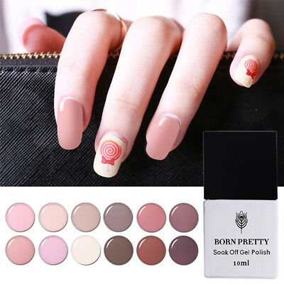 5/10ml Born Pretty Soak Off UV Gel Polish LED Nail Varnish Manicure -Nude Series