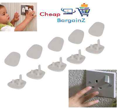 10x Plug Socket Cover Baby Proof Child Safety Protector Electrical 3pin UK SELL