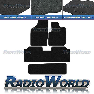 Seat Alhambra 2000 - 2010 Fully Tailored Black Car Floor Mats Carpets 4pc Set