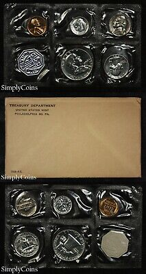 1958 Proof Set With COA ~ Flat Pack Original Envelope ~ US Silver Mint Coin Set