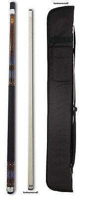 Cuetec Edge R360 Blue Billiard Game Table Two Piece Pool Cue Stick 13-731 + Case