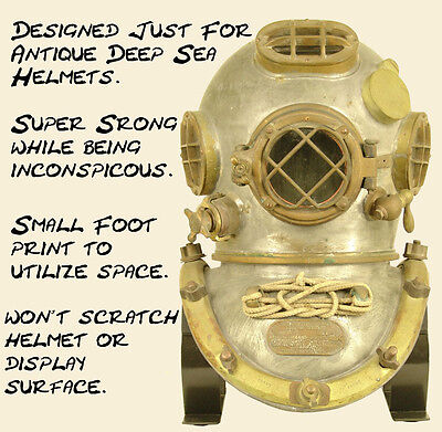Antique Diving Helmet Display Stand Will Fit Most Vintage Copper & Brass Helmets