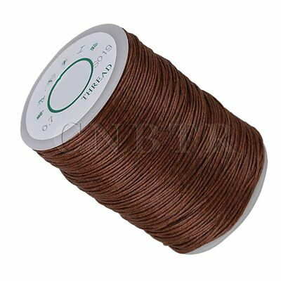 Leather Craft Sewing DIY Brown Round Waxed Wax String Linen Thread Cord 0.7mm