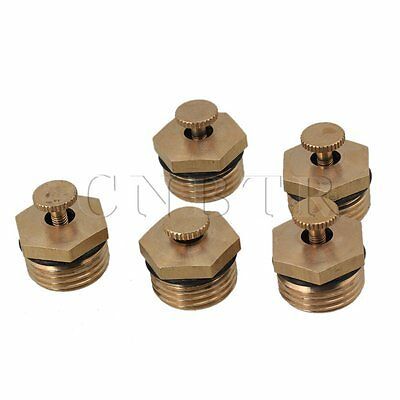 "5pcs Brass Adjustable Spray Misting Fogging Nozzle Parts 1/2"" Thread Agriculture"