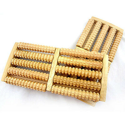 Wooden Foot Feet Roller Wood Care Massage Reflexology Relax Relief Massager Spa